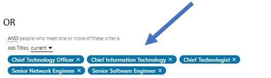 Image of LinkedIn lead generation targeting capabilities for marketing job titles #2
