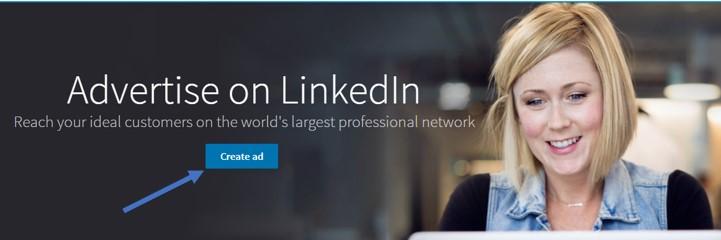 create ad icon in linkedin screenshot