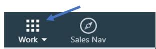 Work icon in LInkedIn screenshot